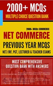 NET JRF Commerce Question Bank 2000+ MCQs