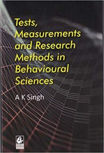 Tests, Measurements and Research in Behavioural Sciences