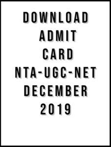 admit card UGC NET