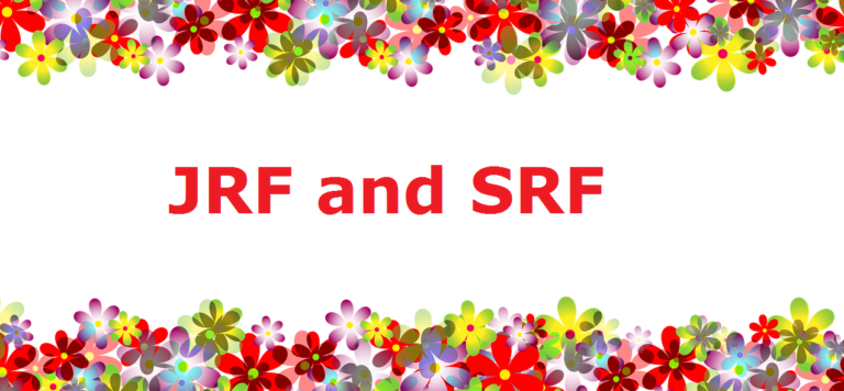 JRF and SRF